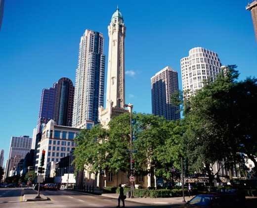 Stock Photo: 1096-2073A Skyscrapers in a city, Chicago, Illinois, USA