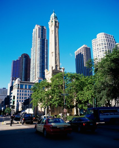 Skyscrapers in a city, Chicago, Illinois, USA : Stock Photo