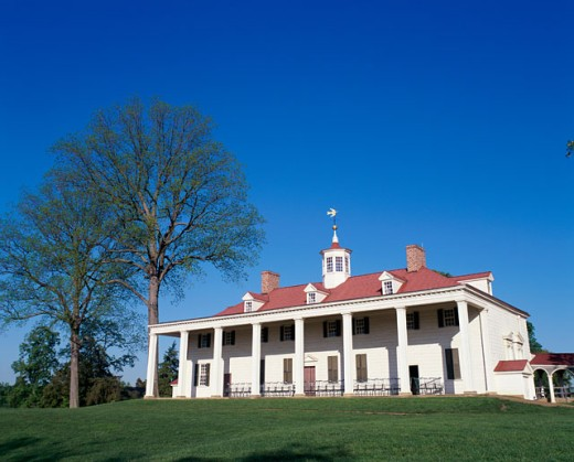 Stock Photo: 1096-2113 Mount Vernon, Home of George Washington, Virginia, USA