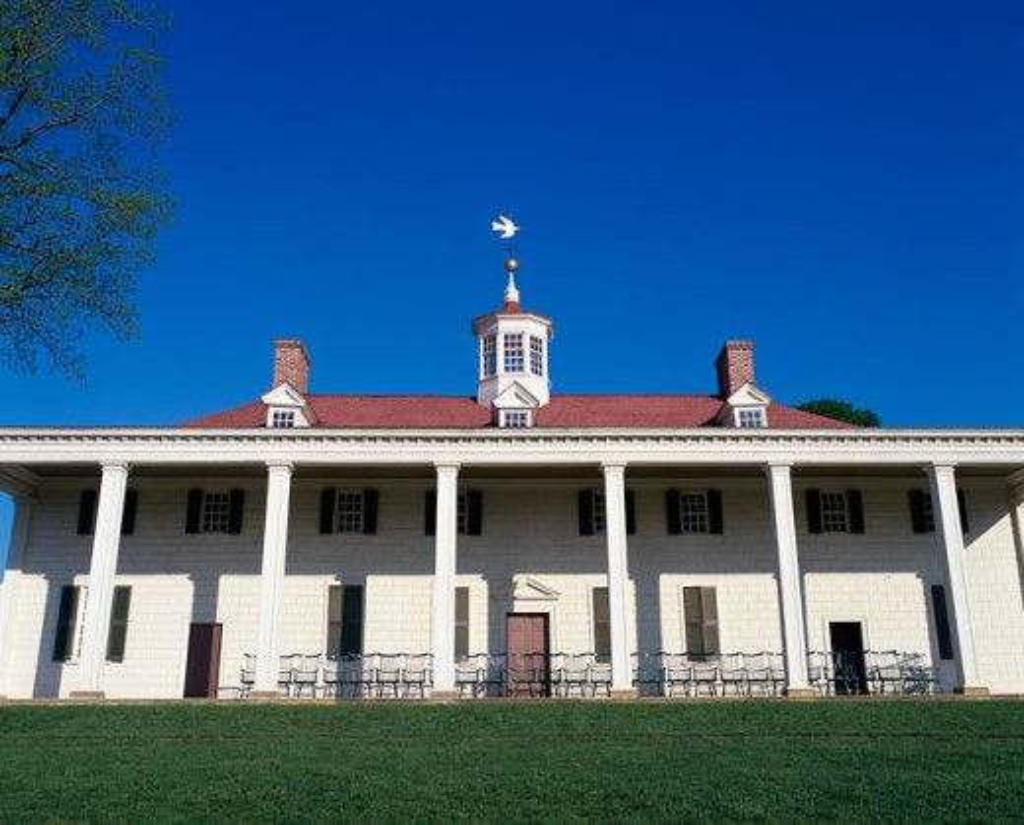 Stock Photo: 1096-2114 Mount Vernon, Home of George Washington, Virginia, USA