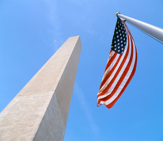 Stock Photo: 1096-2133 Low angle view of the Washington Monument, Washington, D.C., USA