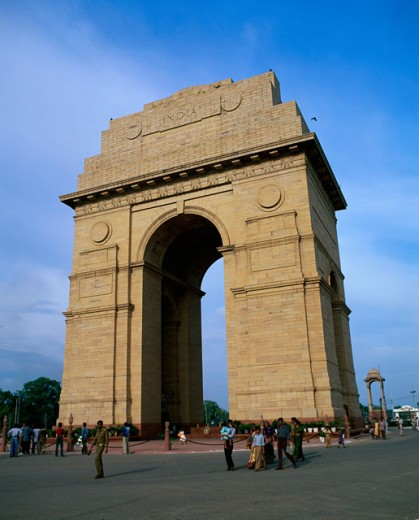 Stock Photo: 1096-2330B Low angle view of India Gate, Delhi, India