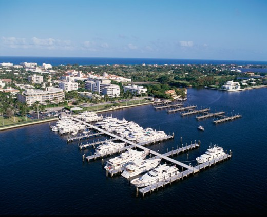 Aerial view of Palm Beach, Florida, USA : Stock Photo