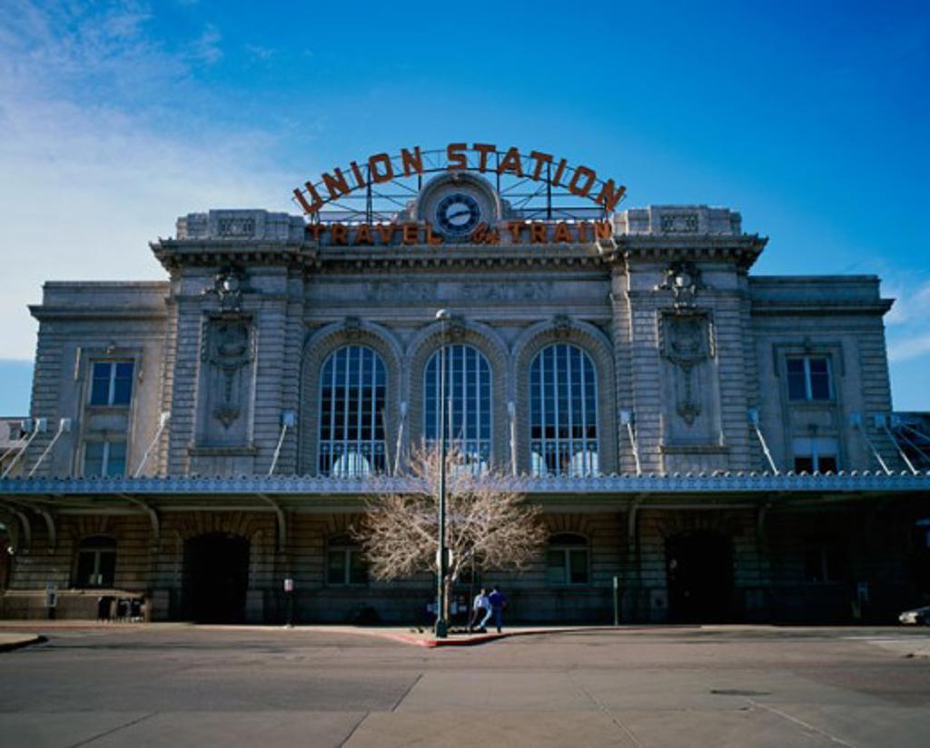 Stock Photo: 1096-2605 Facade of Union Station, Denver, Colorado, USA