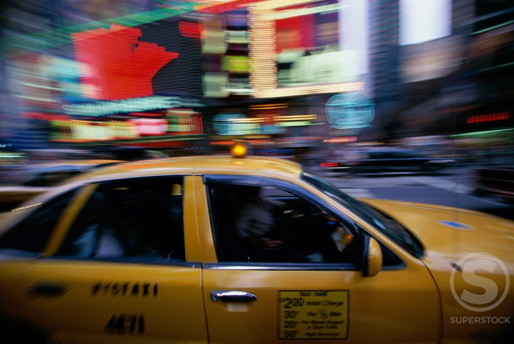 Stock Photo: 1096-694 Traffic on a street, Times Square, Manhattan, New York City, New York, USA