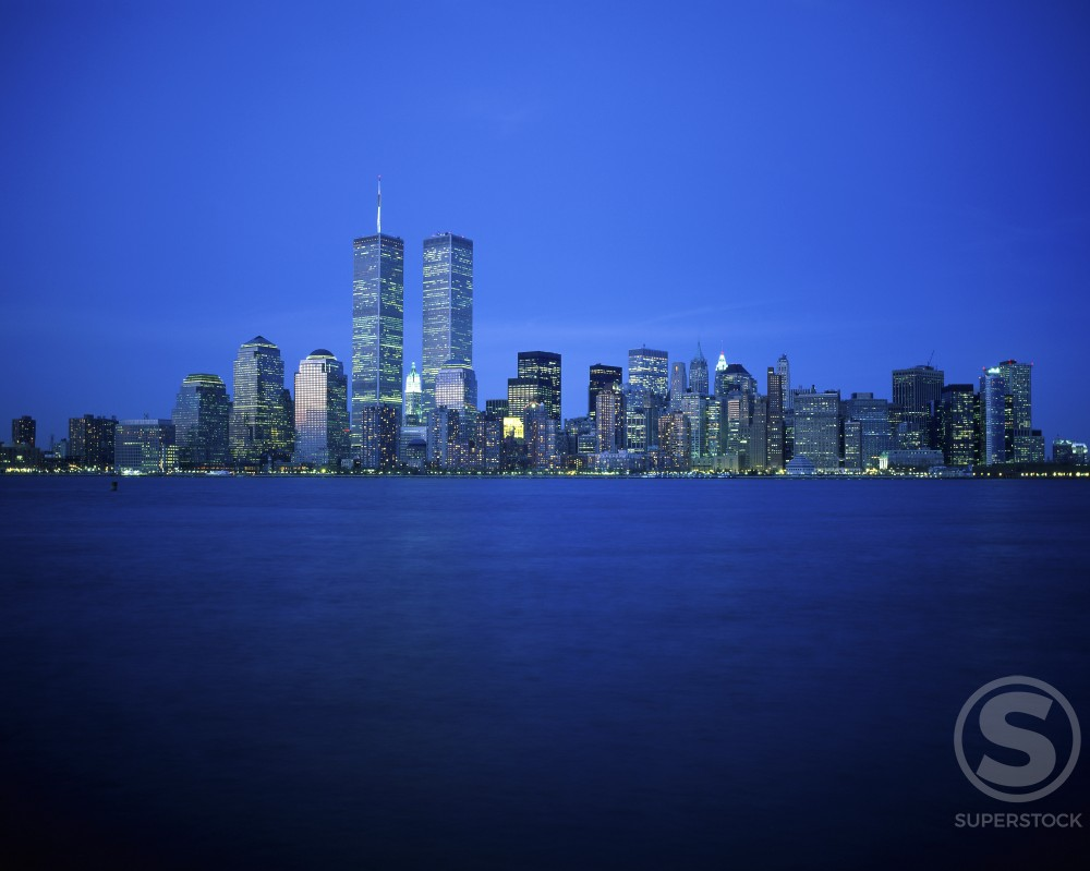 Skyscrapers across the Hudson River, New York City, New York, USA : Stock Photo