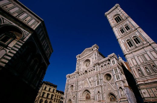 Low angle view of a cathedral, Duomo, Florence, Italy : Stock Photo