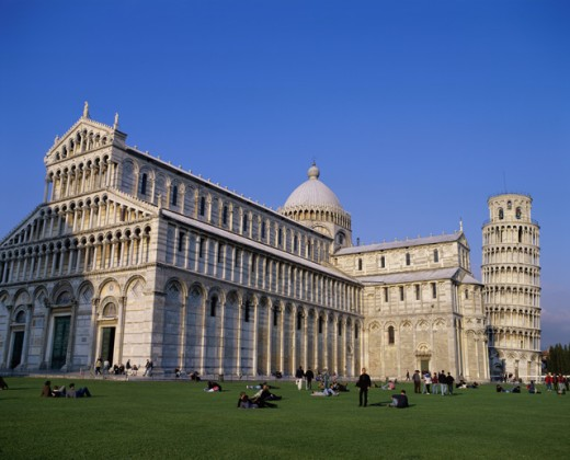 Duomo and the Leaning Tower of Pisa, Pisa, Italy : Stock Photo