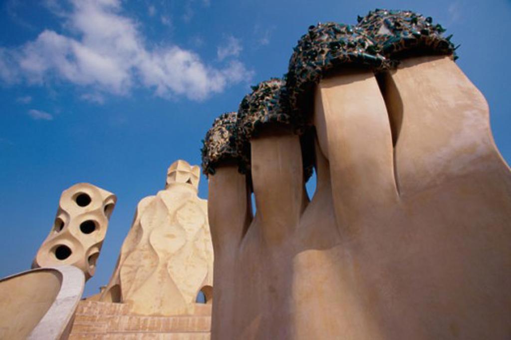 Casa Mila (La Pedrera) Barcelona Spain : Stock Photo