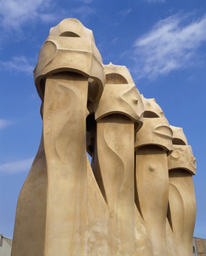 Casa Mila (La Pedrera), Barcelona, Spain : Stock Photo