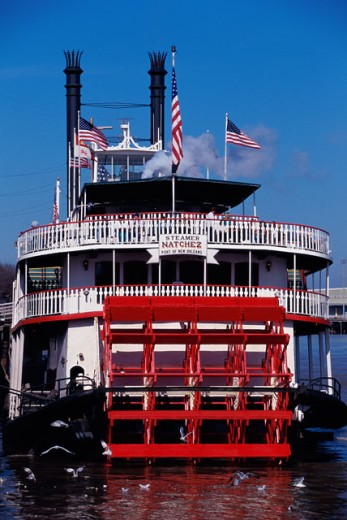 Stock Photo: 1096-W2633 Steamboat Natchez