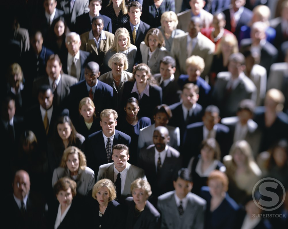 Portrait of a group of business executives standing together : Stock Photo