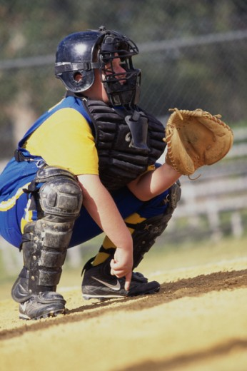 Stock Photo: 1099-6748B Boy playing baseball