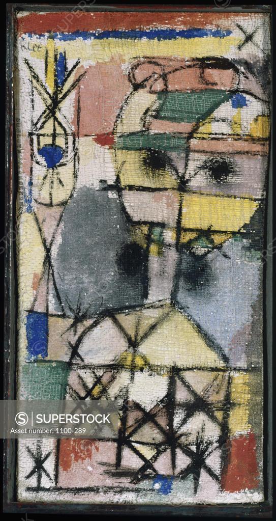 Stock Photo: 1100-289 Head  1919 Paul Klee (1879-1940/Swiss) Tempera on gauze on board