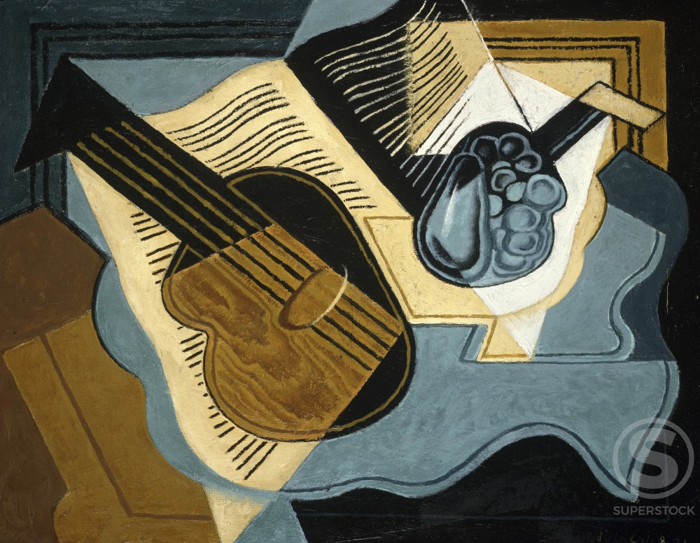 Stock Photo: 1100-107 Guitar and Compote Dish 
