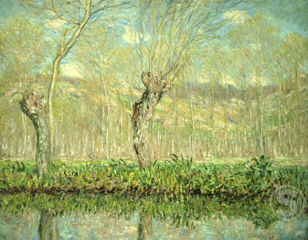 Stock Photo: 1100-363 Springtime, Edge of the Epte
