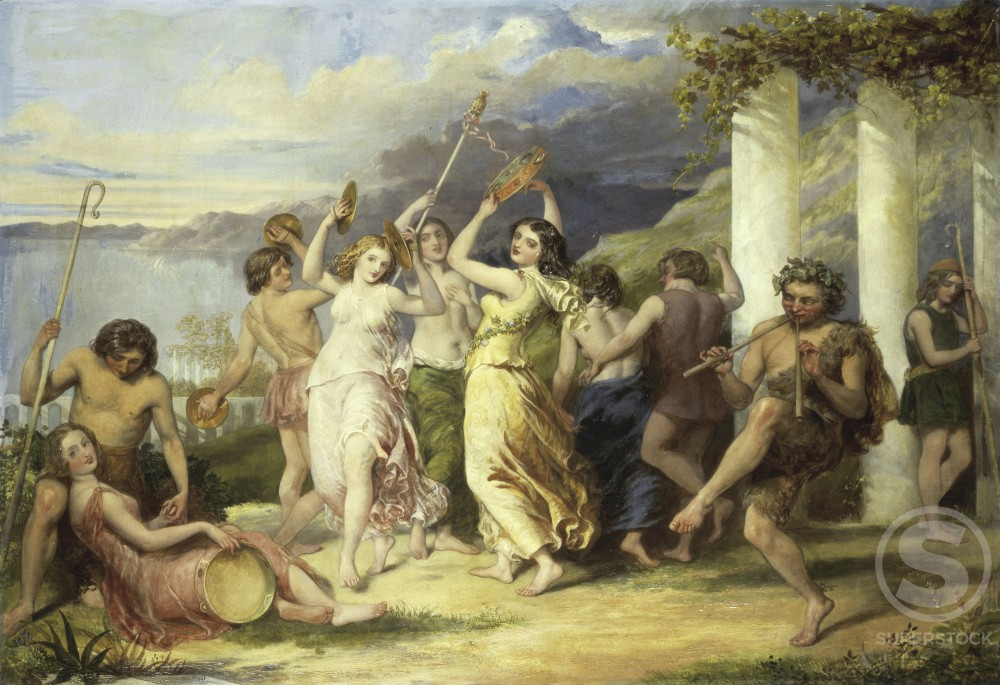 Stock Photo: 1100-488 Bacchanalia