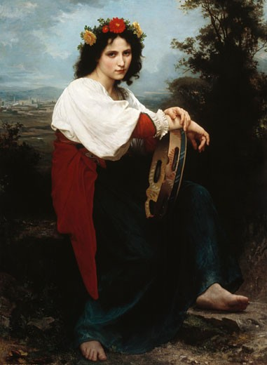 Italienne au Tambour de Basque