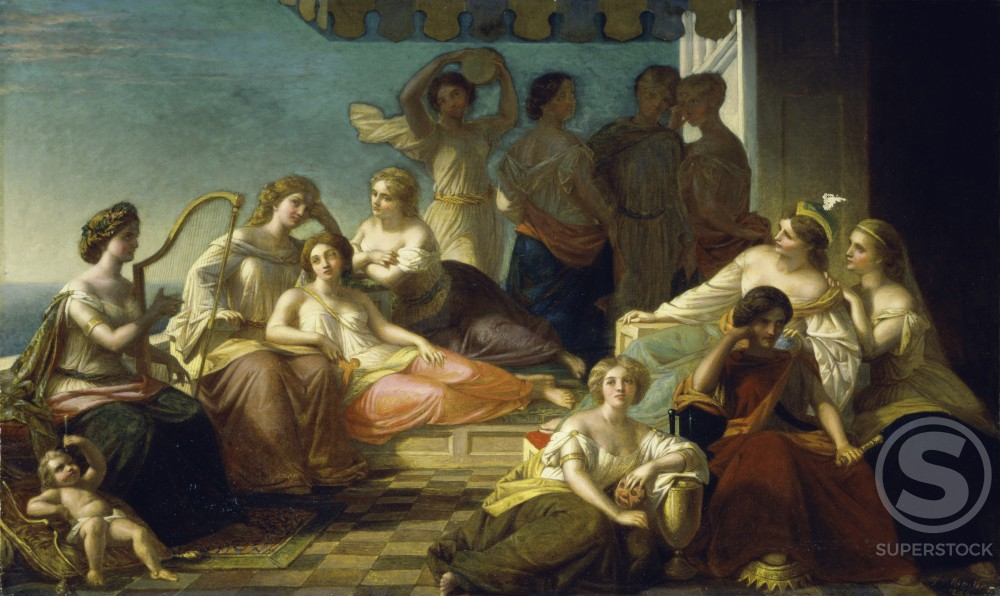 Stock Photo: 1100-522 Muses and Graces 