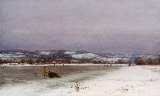 Gathering Christmas Finery At Roundout, New Jersey