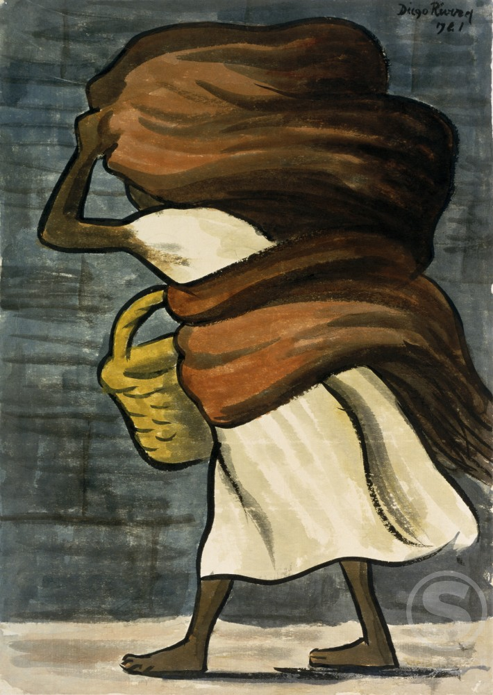 Stock Photo: 1100-695 Woman with Basket  