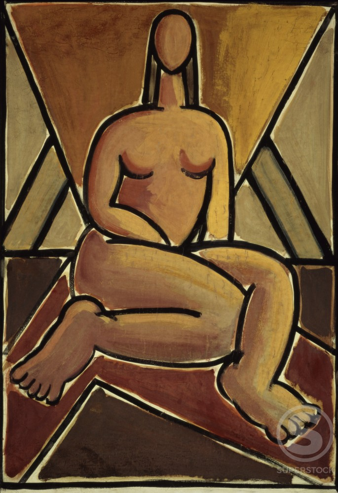 Stock Photo: 1100-732 Seated Nude 