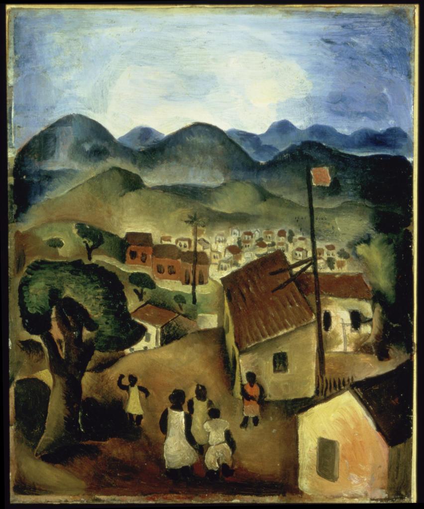 Headland 1926 Emiliano di Cavalcanti (1897-1976/Brazilian)   Oil on Canvas     : Stock Photo