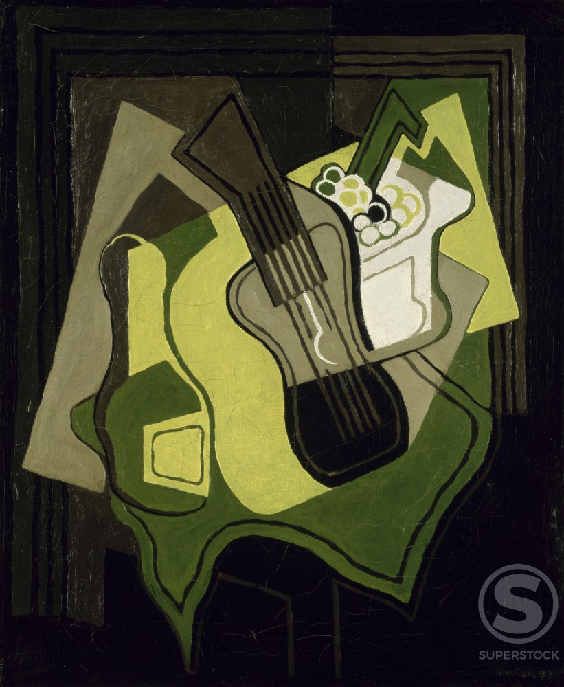 Stock Photo: 1100-826 Guitar and Grapes