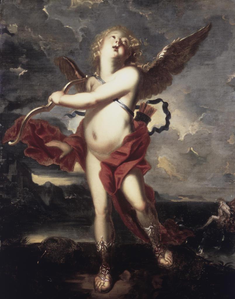 Stock Photo: 1100-835 Cupid  Matthaus Terwesten (1670-1757/Dutch) Oil on canvas