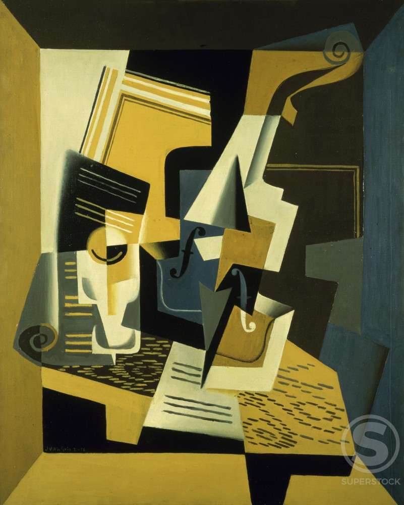 Stock Photo: 1100-897 Violin and Glass 