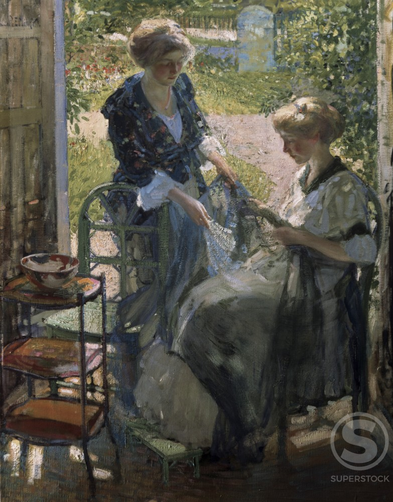 Stock Photo: 1100-912 The Garden Room, Giverny 
