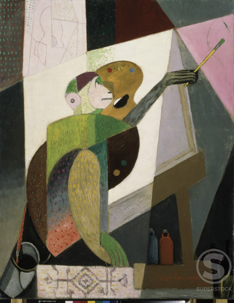Stock Photo: 1100-921 Les Singes No. 2 (Chango Pintoir) 
