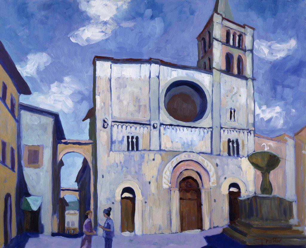 Stock Photo: 1101-501 La Bevagna Umbria,  by Josephine Trotter,  Born 1940