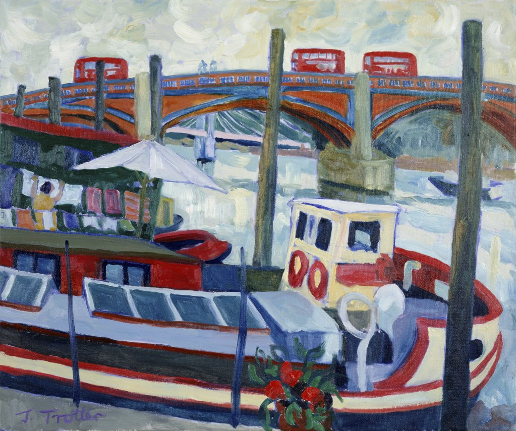 Stock Photo: 1101-507 Albert Bridge London