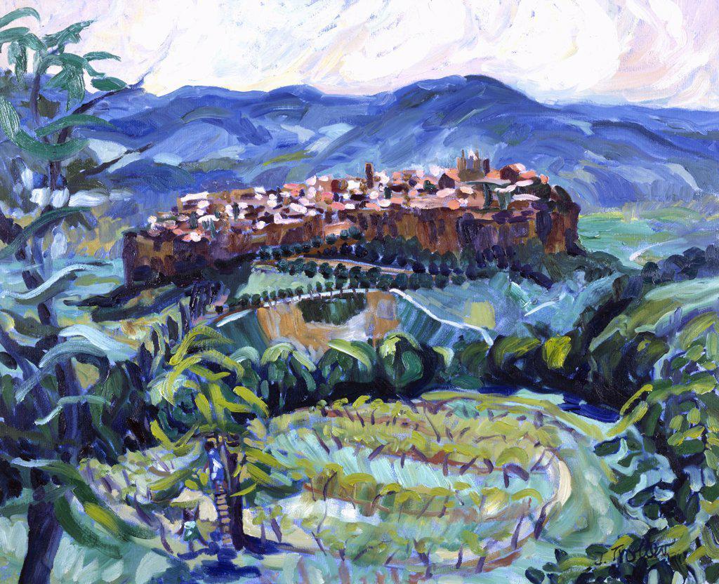 Stock Photo: 1101-524 San Gimignano,  Tuscany by Josephine Trotter,  born in 1940