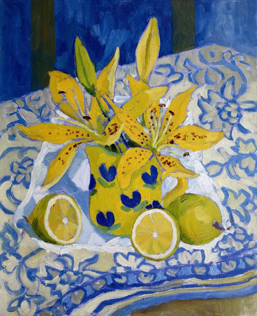 Stock Photo: 1101-529 Lemons and Lillies 