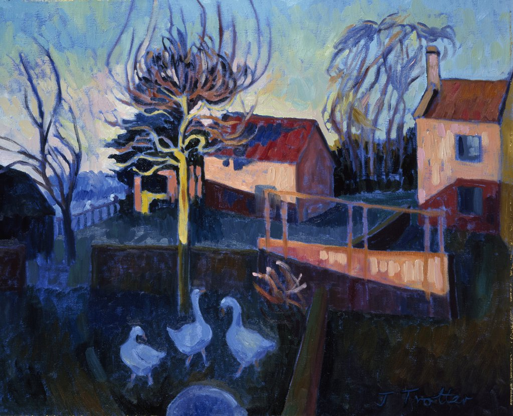 Stock Photo: 1101-532 Early Morning,  Nil Farm by Josephine Trotter,  1997,  born in 1940