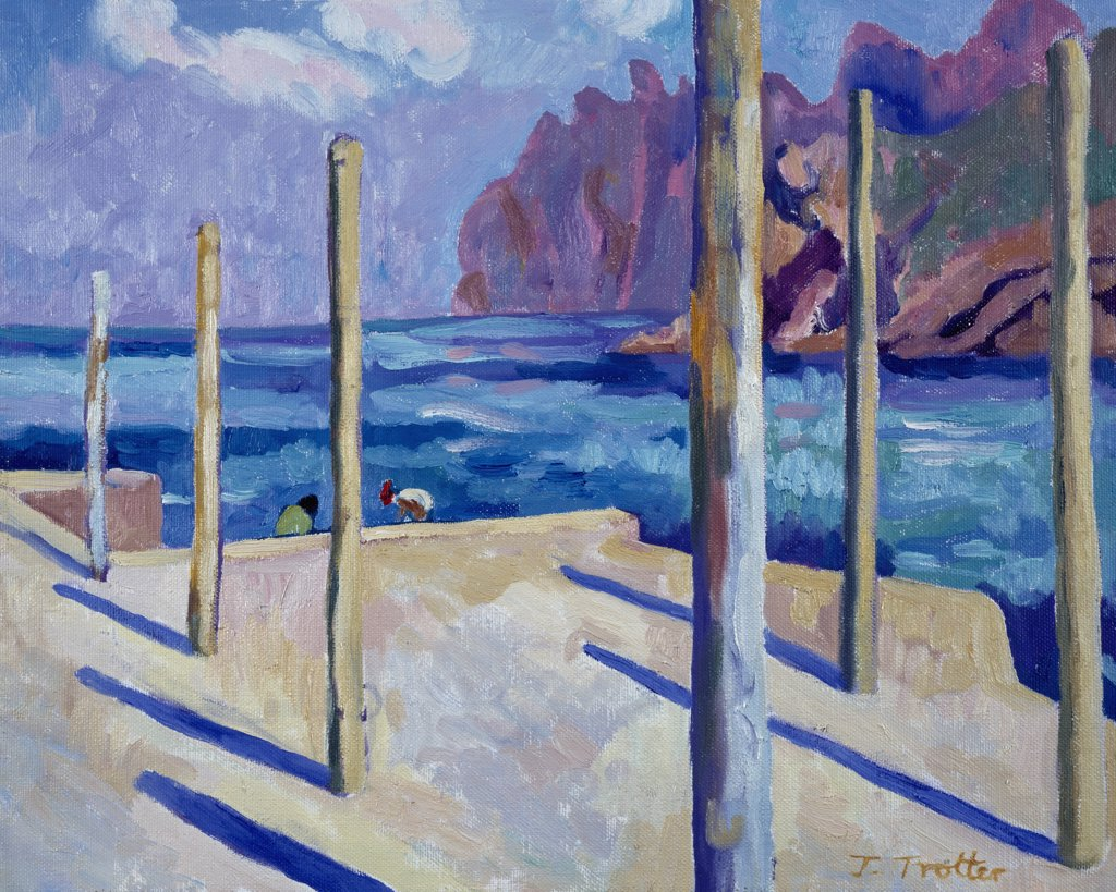 Stock Photo: 1101-534 Cala San Vicente by Josephine Trotter,  1997,  born in 1940