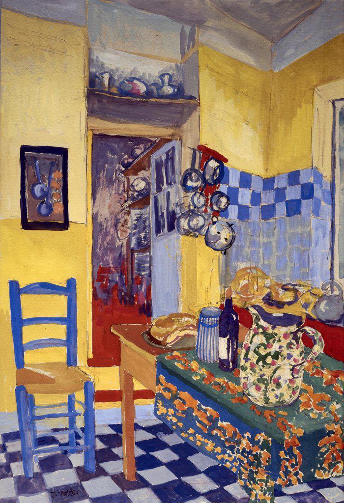 Provence Kitchen Josephine Trotter (b.1940/British) : Stock Photo
