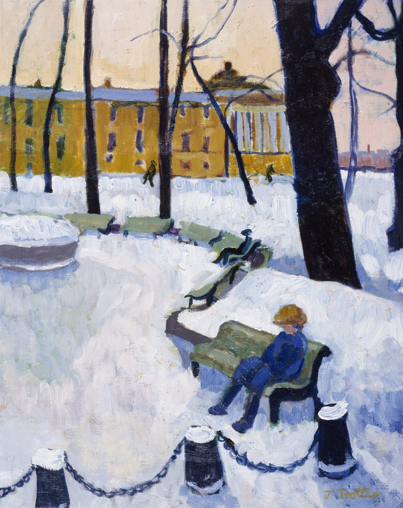 Afternoon in St. Petersburg by Josephine Trotter, born in 1940 : Stock Photo