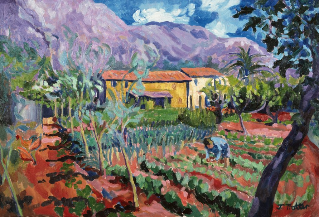 Stock Photo: 1101-555 Jose's Garden by Josephine Trotter,  oil on canvas,  born in 1940