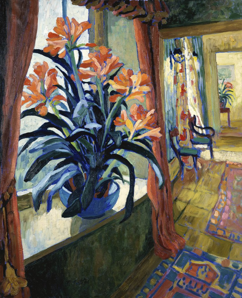 Stock Photo: 1101-556 Interior With Clivia