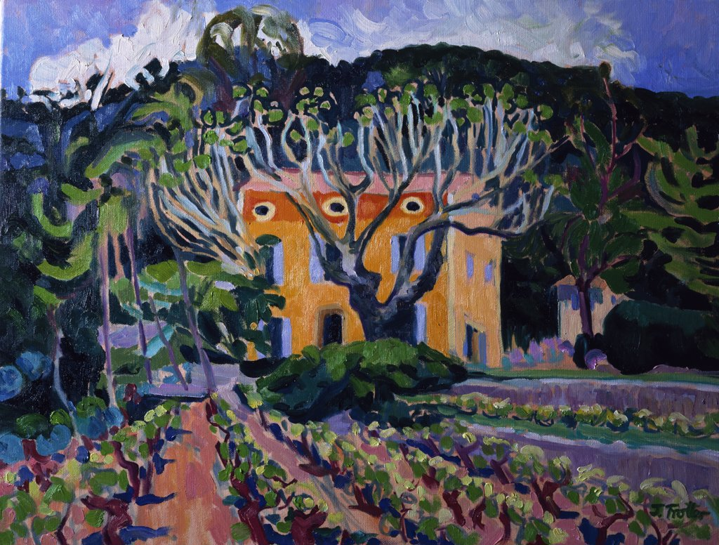 Stock Photo: 1101-563 LaFougiere,  Provence by Josephine Trotter,  oil on canvas,  born in 1940