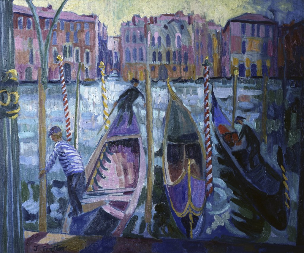 Stock Photo: 1101-569 Gondoliers, Grand Canal