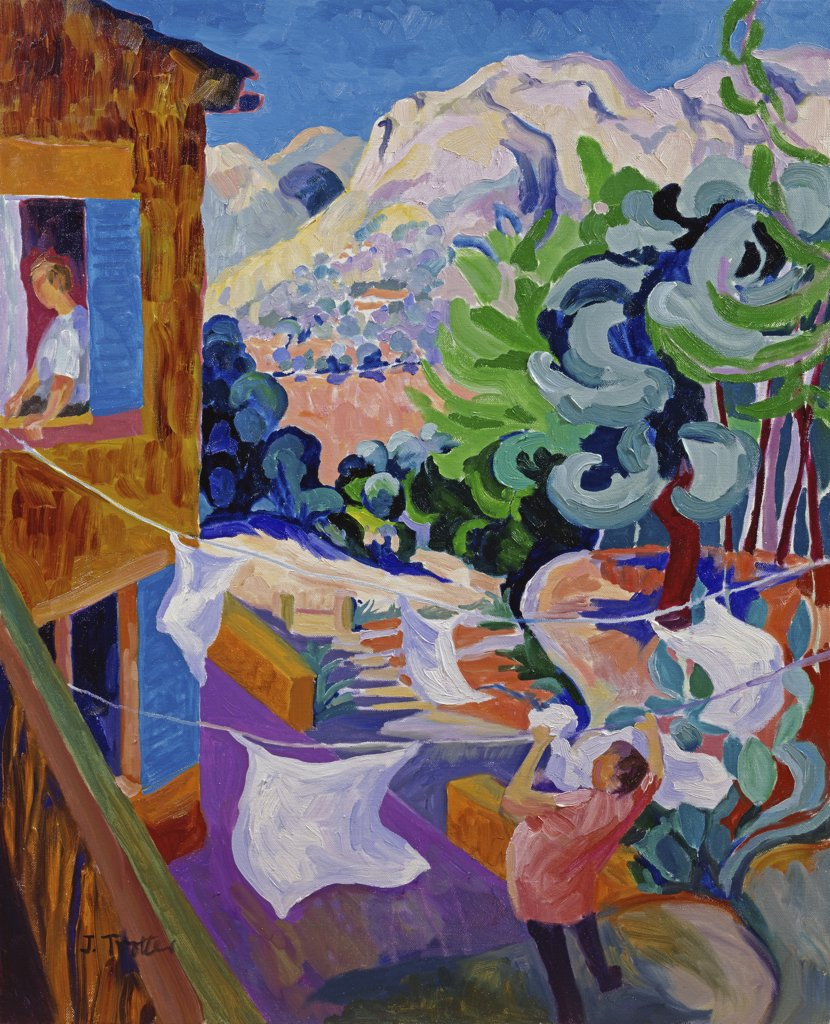 Stock Photo: 1101-573 Washing, Majorca