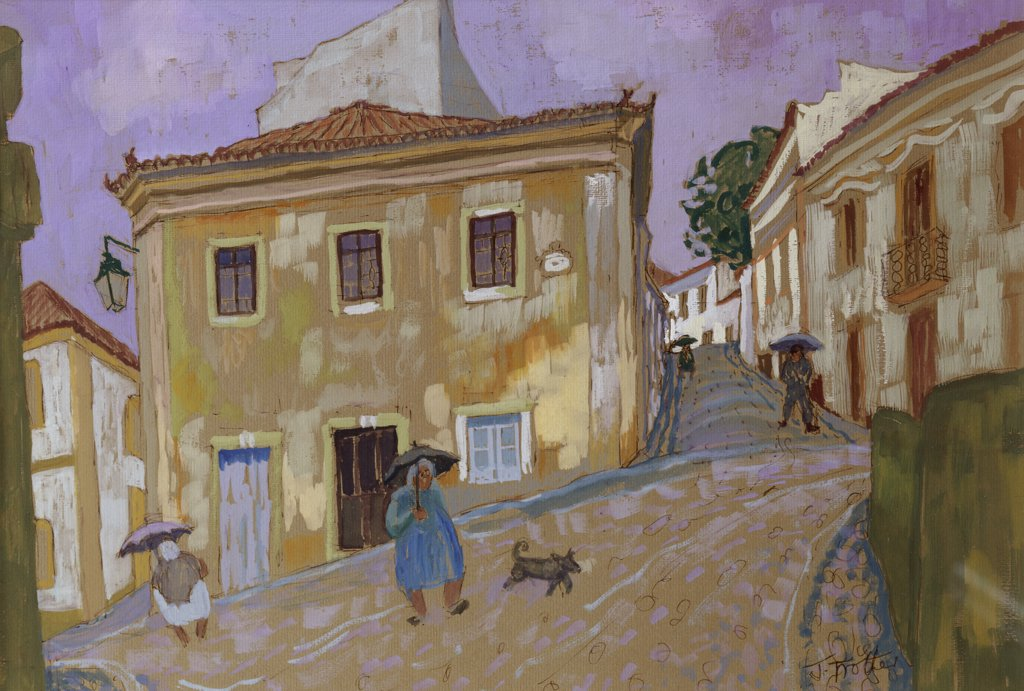 Stock Photo: 1101-579 Spanish Street 2002 Josephine Trotter (b.1940/British) Oil on Canvas