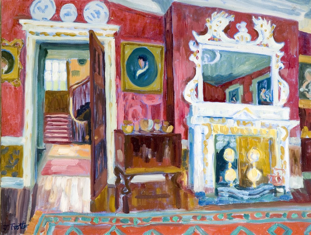 Stock Photo: 1101-586 Red Interior Josephine Trotter (b.1940 British) Oil on Canvas