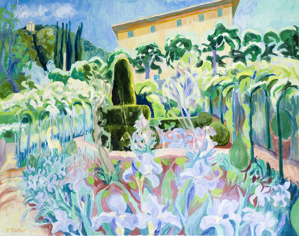 Cetiwale Iris, Italy Josephine Trotter (b.1940 British) Oil on Canvas : Stock Photo