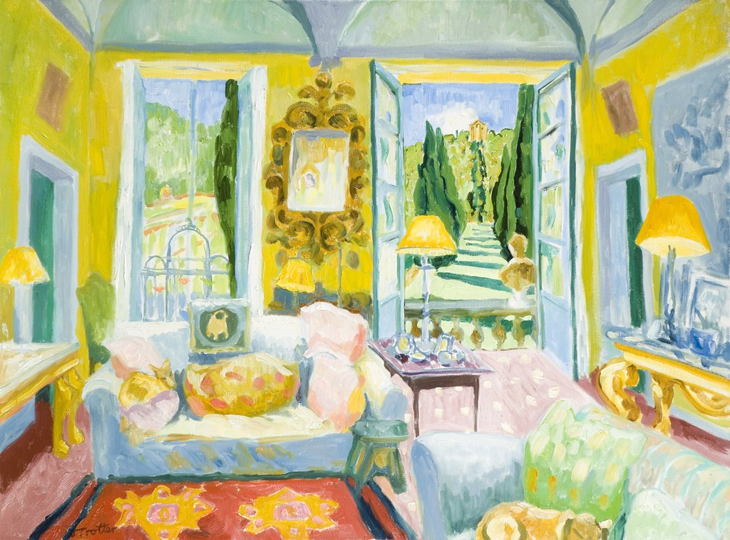 Stock Photo: 1101-596 Cetinale, Tuscany Josephine Trotter (b.1940 British) Oil on Canvas