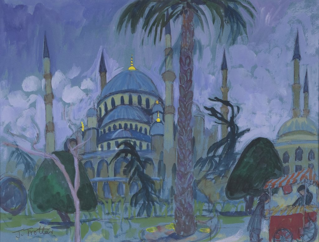Mosque by Josephine Trotter, born 1940 : Stock Photo